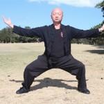 Shi Fu Wong practises Qi Gong